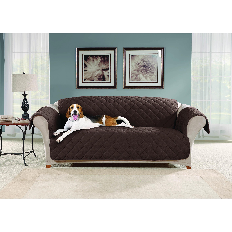 Sure Fit Micro Fleece Sofa Furniture Protector Storm Blue