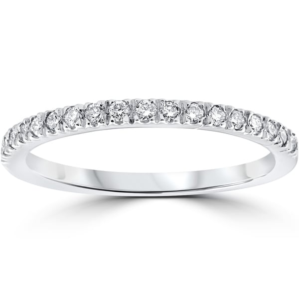 14k white gold 1 3 ct tdw pave diamond stackable wedding ring free