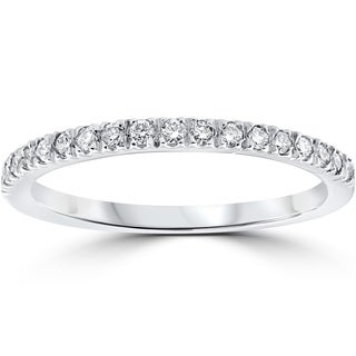 14k white gold 13 ct tdw pave diamond stackable wedding ring - Wedding Ring Pics