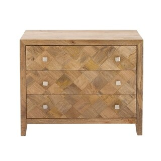 Benzara Swank Brown Wood Chest