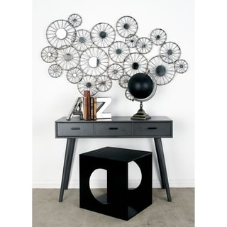 Benzara Grey Wood Console Table