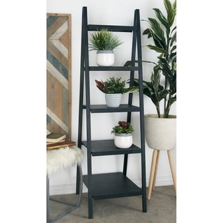 Beznara Grey Wood 22-inch x 65-inch Bookshelf