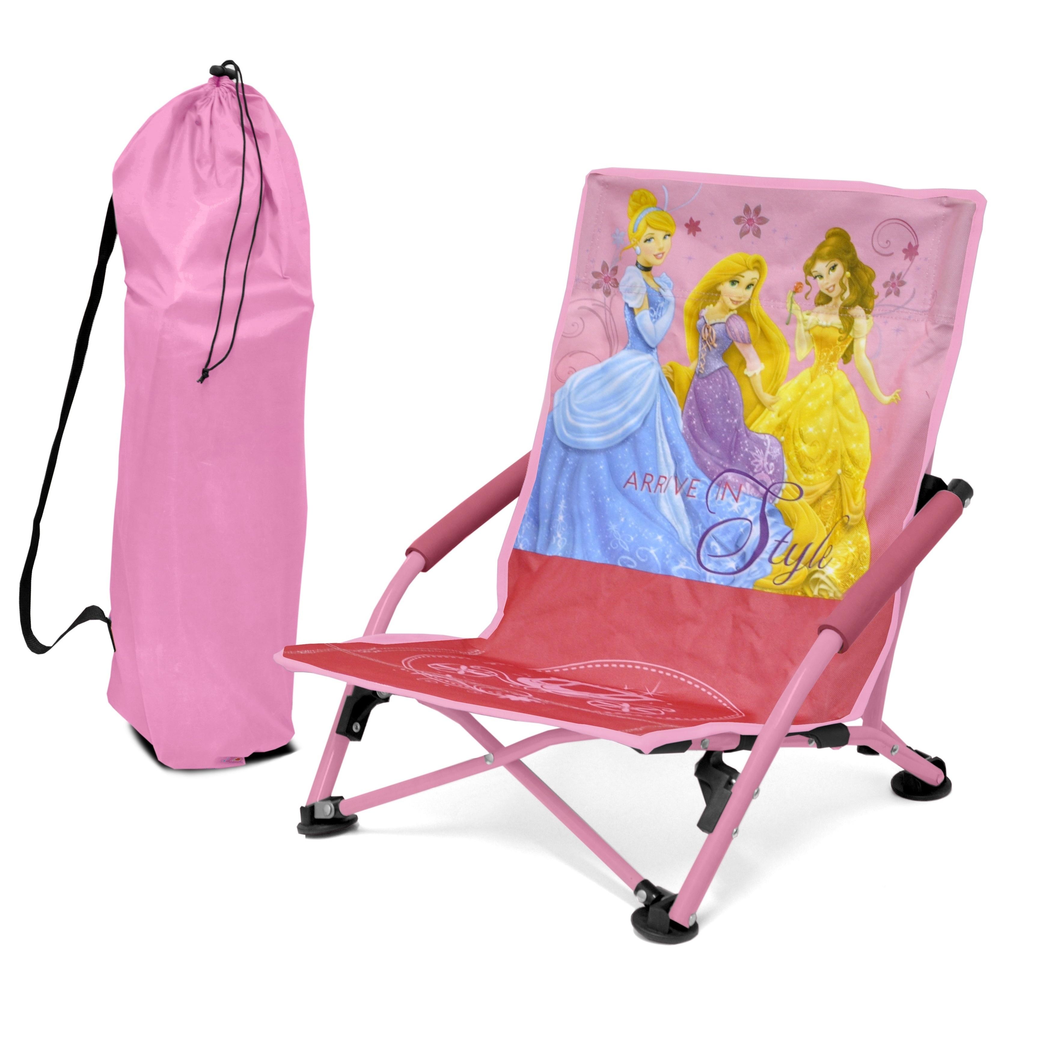 Disney Princess Kids Folding Lounge Chair (Princess), Blu...
