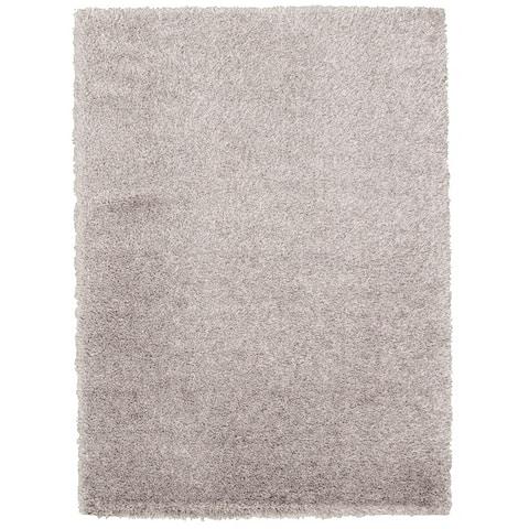 "eCarpetGallery Labrador Grey Shag Rug (5'3 x 7'3) - 5'3"" x 7'3"""