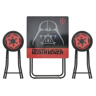 Star Wars Multicolor Wood and Metal 3-piece Folding Table and Stool Set