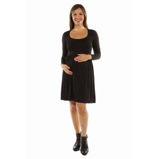 24/7 Comfort Apparel Women's This Just In: The Must Have Maternity Midi Dress for Fall