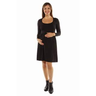 24/7 Comfort Apparel Women's This Just In: The Must Have Maternity Midi Dress for Fall|https://ak1.ostkcdn.com/images/products/13228104/P19944858.jpg?impolicy=medium