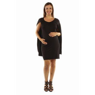 24/7 Comfort Apparel Women's Spectacular Caped Maternity Mini Dress