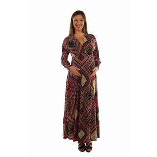 24/7 Comfort Apparel Women's Feel Great, Look Gorgeous in this Showstopper Maternity Maxi Dress
