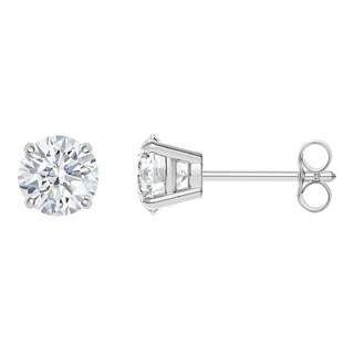 Platinum 0.3CTtw 4-prong Round IGI Certified Diamond Stud Earrings