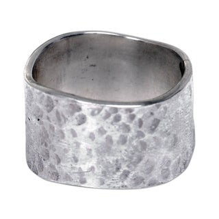 Handmade Sterling Silver 'Shining Waves' Ring (Indonesia)