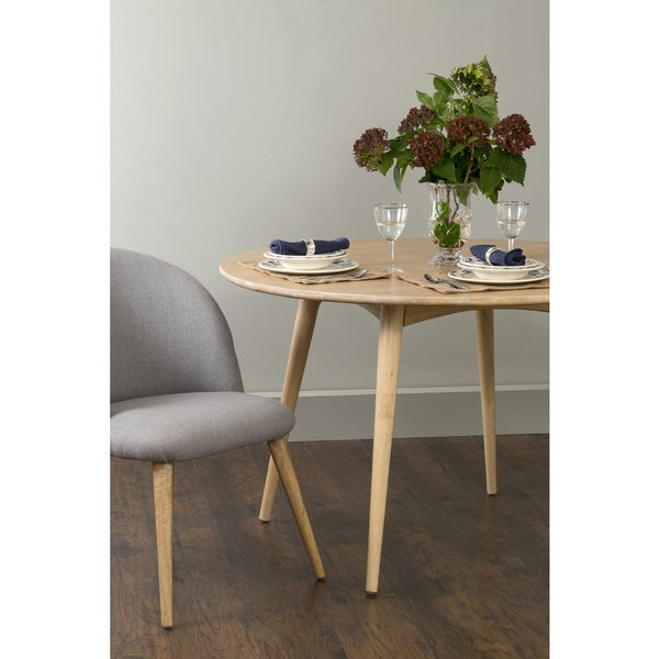 Shop East At Main S Walker Beige Teakwood Round Dining