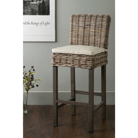 East At Main's Duvall Brown Rattan Barstool