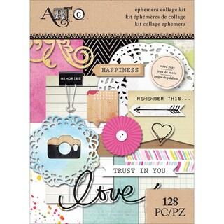 Art-C Ephemera Collage Pack 128/Pkg