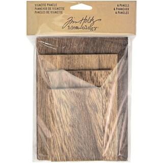 Idea-Ology Wooden Vignette Panels 4/Pkg