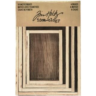 Idea-Ology Wooden Vignette Boxes 4/Pkg