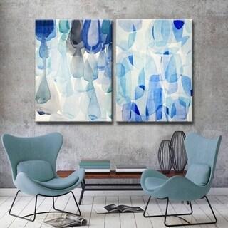 Down Pour & Heavy Rain' by Norman Wyatt, Jr.  2-Piece Wrapped Canvas Wall Art Set