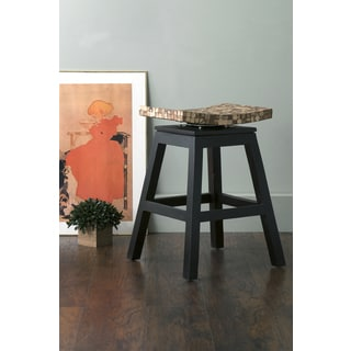 East At Main's Carnation Black Coconut Shell Inlay Counter Stool