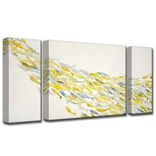 Upstream' by Norman Wyatt, Jr. 3-Piece Wrapped Canvas Wall Art Set