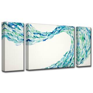 Flow' by Norman Wyatt, Jr. 3-Piece Wrapped Canvas Wall Art Set