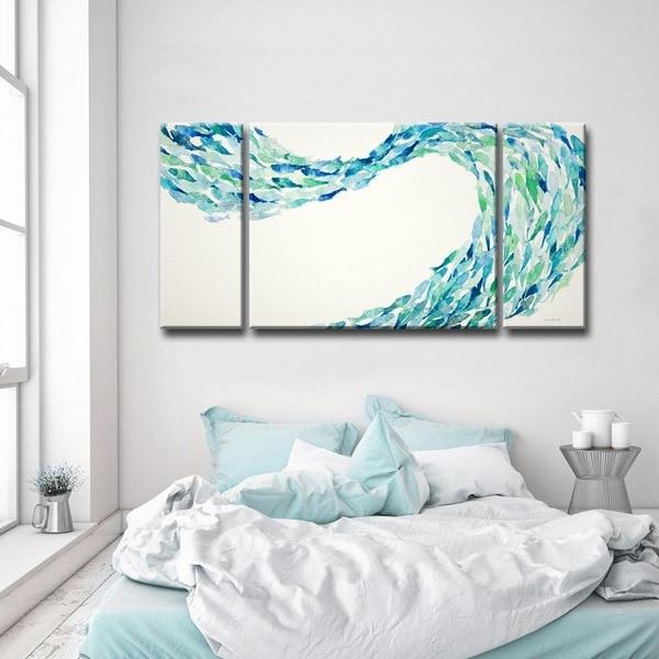 Shop Ready2hangart Flow By Norman Wyatt Jr 3 Piece Canvas Art