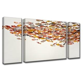 Heatwave' by Norman Wyatt, Jr. 3-Piece Wrapped Canvas Wall Art Set