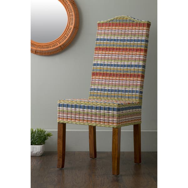 East At Main S Heaton Multi Colored Rattan Dining Chair