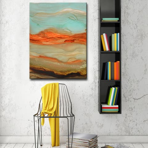 Eye of Jupiter' by Norman Wyatt, Jr Abstract Wrapped Canvas Wall Art