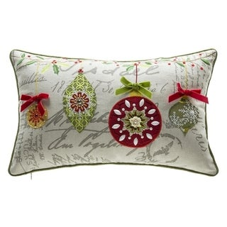 Mini Ornaments Lumbar Throw Pillow