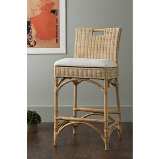 East At Main's Barnes Beige Rattan Counter Stool