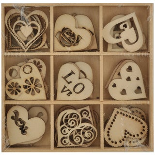 Lucky Dip Wooden Shapes 45/Pkg