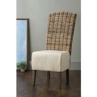 East At Main's Brainerd Grey Rattan Dining Chair