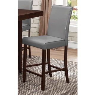 Coaster Company Grey Faux Leather and Espresso Wood Counter Height Chair