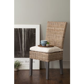 East At Main's Duke Grey Abaca Dining Chair