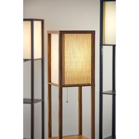 Carbon Loft Wiig Wood Shelf Lamp