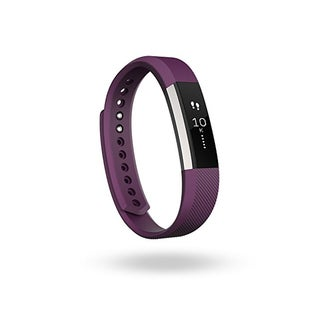 Fitbit Alta Fitness Tracker, Plum/Silver, Large