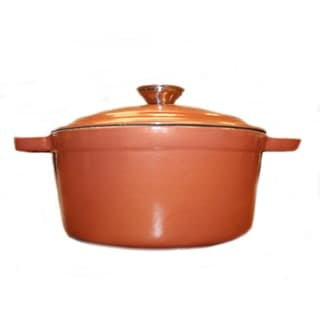 BergHoff Neo Copper-finish Cast Iron Oval Covered 8-quart Casserole Dish