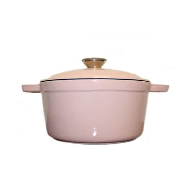 Neo Cast Iron Oval Covered Casserole Dish 8qt Pink. Opens flyout.