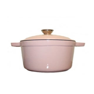 Neo Cast Iron Oval Covered Casserole Dish 8qt Pink (Option: Pink)