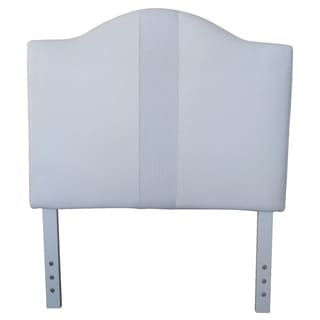 Twin-size White Faux Leather Headboard