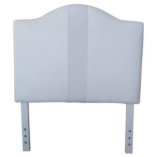 Twin-size White Faux Leather Headboard