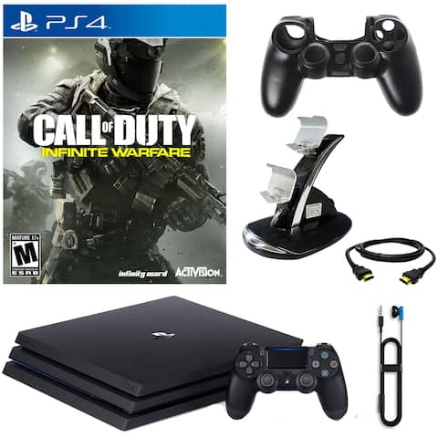 PlayStation 4 Pro 1TB Console With COD Infinite Warfare & Accessories - Black