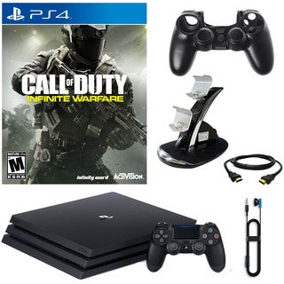 PlayStation 4 Pro 1TB Console With COD Infinite Warfare & Accessories