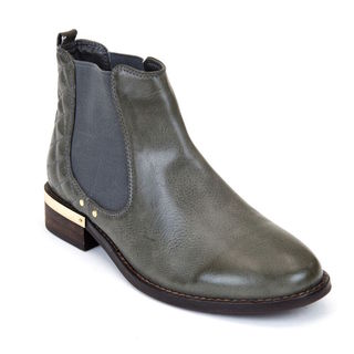 Gc Shoes Women's Terra Grey Faux Leather Ankle Boot