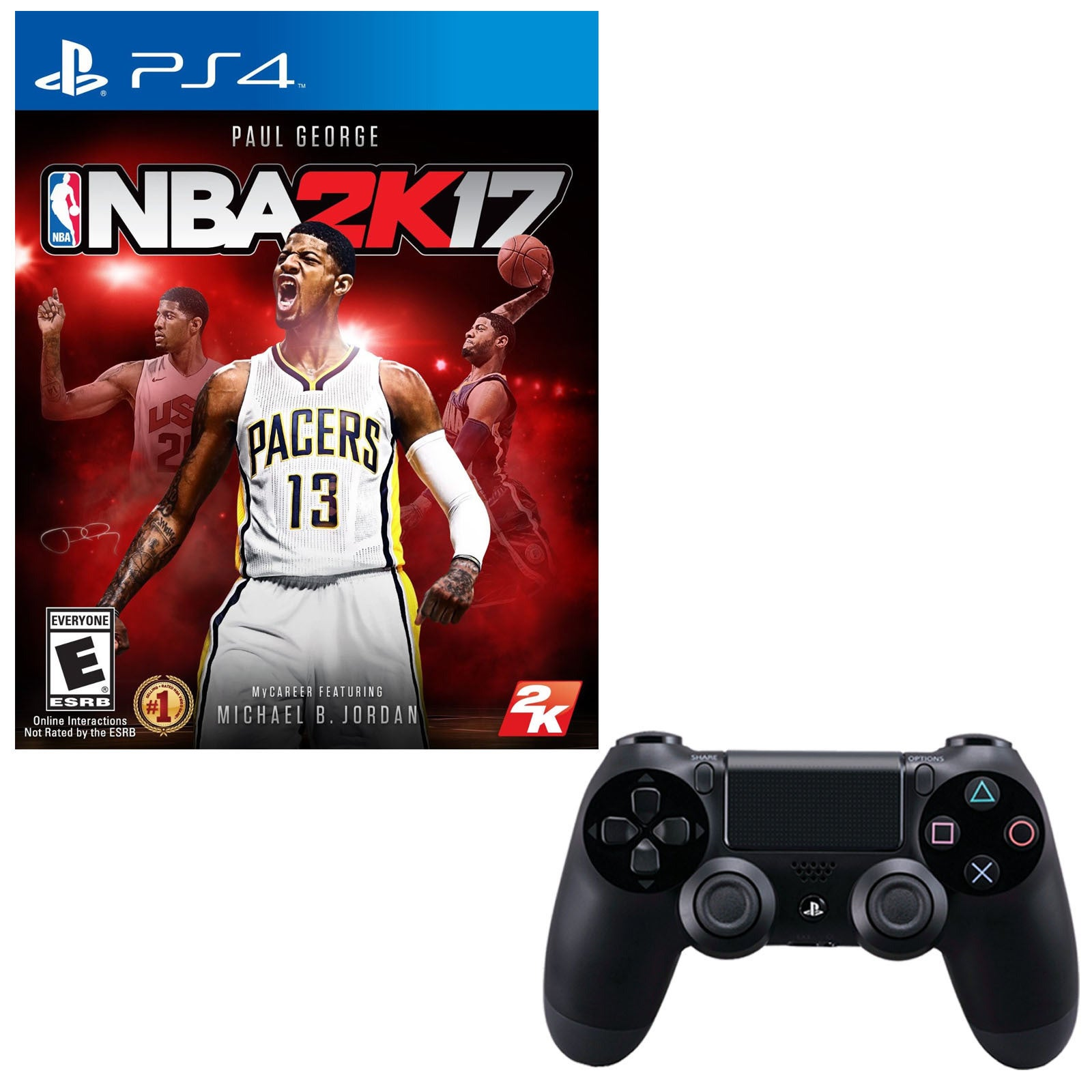 Sony Playstation 4 Dualshock 4 Wireless Controller With N...