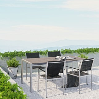Modway Shore 5 Piece Outdoor Patio Aluminum Dining Set
