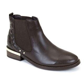 Gc Shoes Women's Terra Black Faux Leather Ankle Boots