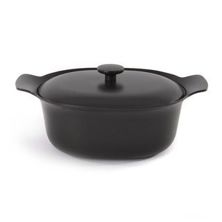 Link to BergHOFF Black Cast Iron 5.5-quart Oval Covered Casserole Pan Similar Items in Cookware