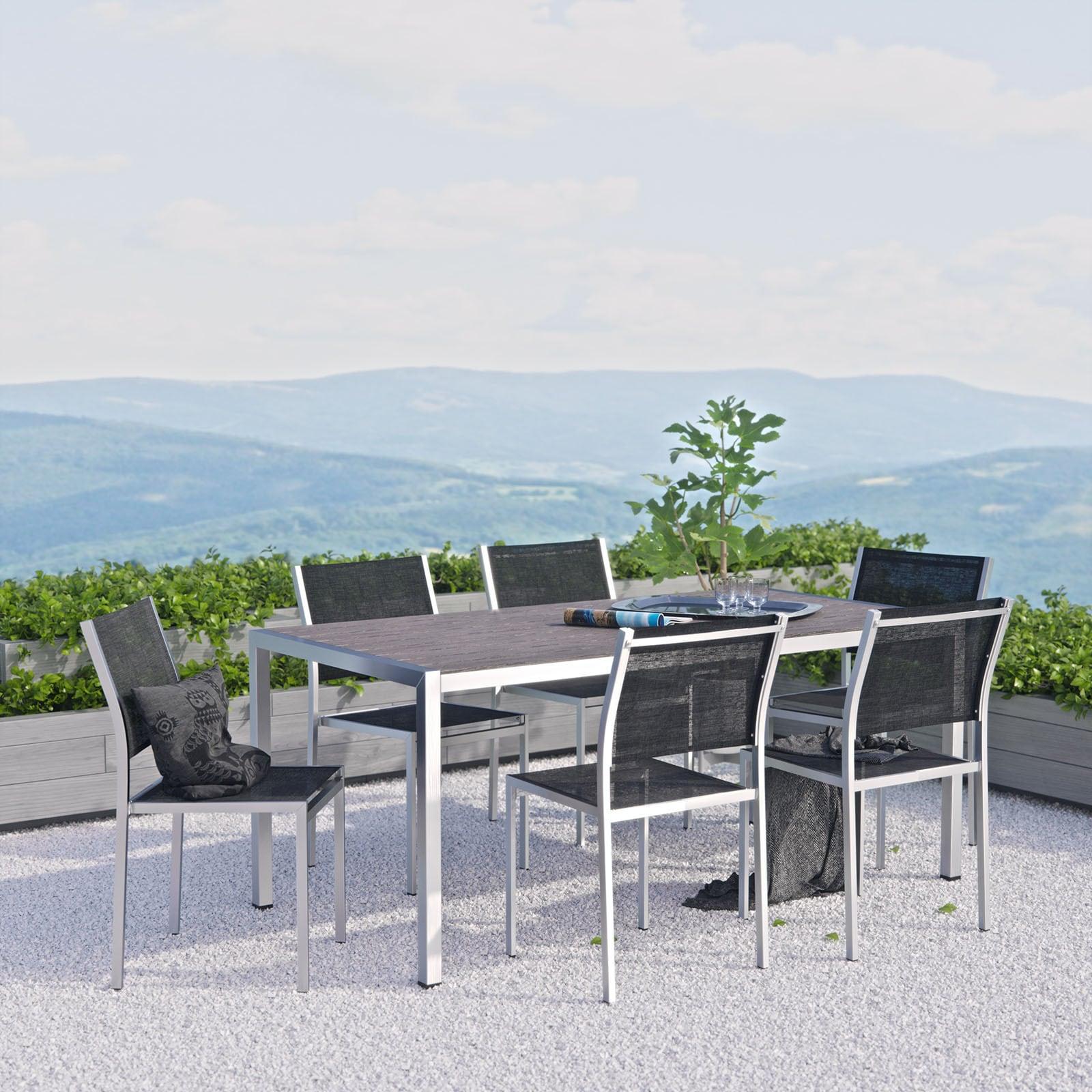 Modway Shore 7 Piece Outdoor Patio Aluminum Dining Set (S...