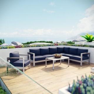 Shore 6-piece Outdoor Patio Aluminum Sectional Sofa Set